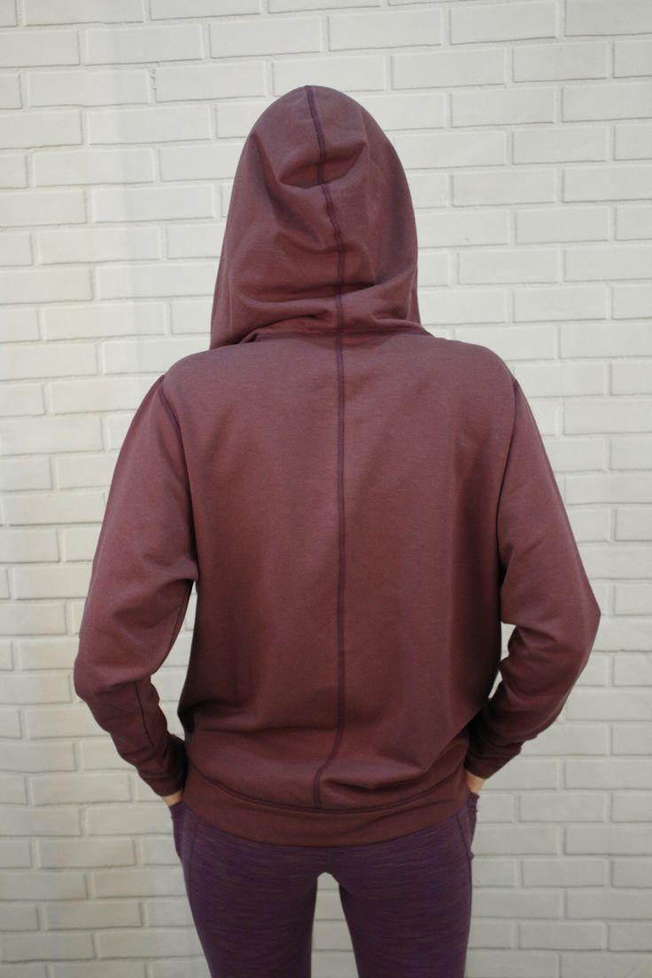 Delia Bamboo fleece-lined Hoodie jacket - bamboo, batwing, zipper