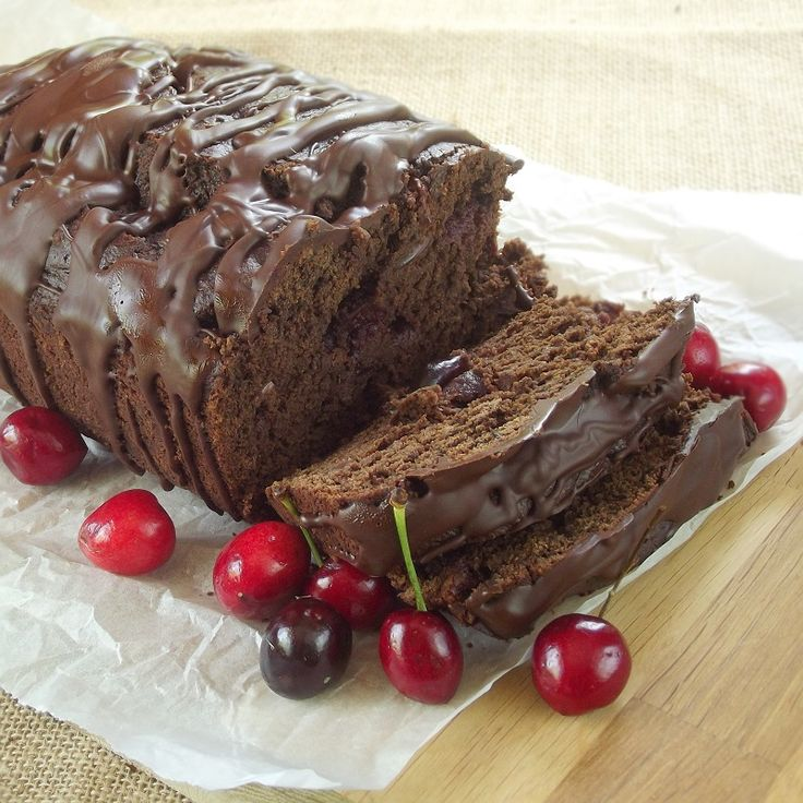 Vegan chocolate cherry bread that's extra rich and flavorful thanks to porter mixed right in the batter.