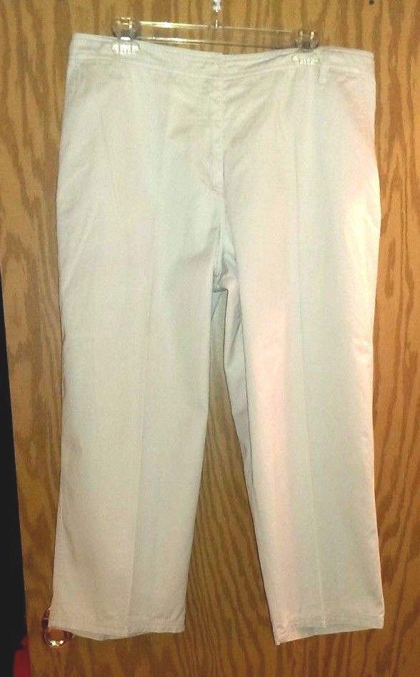 c189d61e68e Bagatelle Women s Plus Size 16 Pants Capri Cropped Khaki Everyday 100%  Cotton