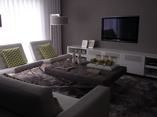 Sala de estar - Depois Living Room - After