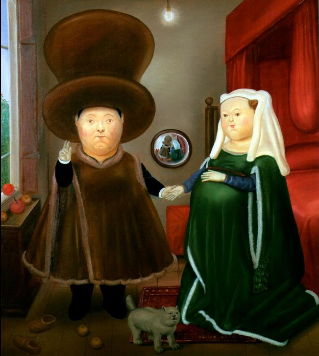 The Arnolfini Marriage, Fernando Botero,  1978  LOL
