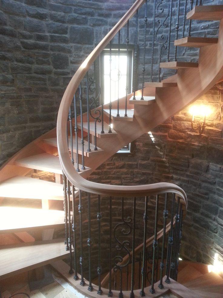 Tangent Handrail, Custom Handrail, Wood Handrail, Stair, Custom Stair,  Wreath Handrail