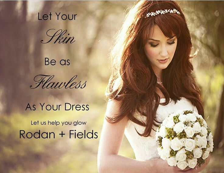 Make sure your skin is flawless with Rodan + Fields for your wedding day!! http://denisebrown.myrandf.com
