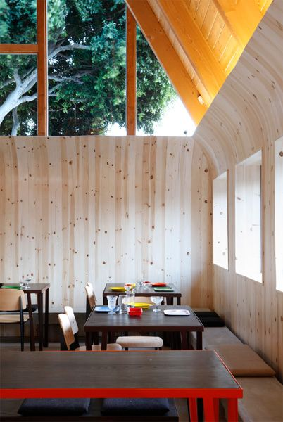 iconic IHOP A-frame turned into a Korean-inspired restaurant. Courtesy of LA designer Sean Knibb.