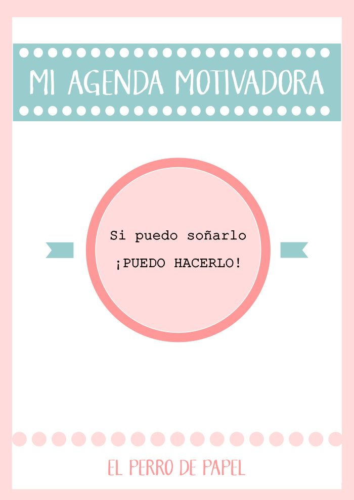 Agenda Motivadora Imprimible 2014-2015
