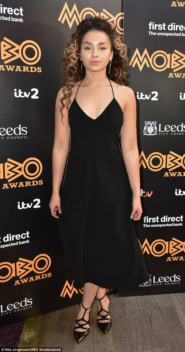 Glamorous nominee: Ella Eyre was dressed to impress to attend the MOBO Awards 2015 nominat...