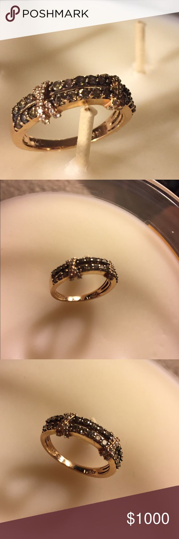 14 k levian chocolate diamond ring Levian chocolate diamonds ring with papers Jewelry Rings