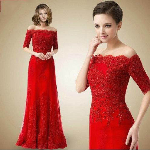 Sleeves Lace Bolero Jacket Tulle Red Evening Dresses Women Formal Gowns Appliques As Low 13466 Also Buy Online Usa