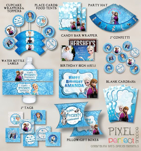 Personalized Frozen Party Pack Frozen Party Supplies