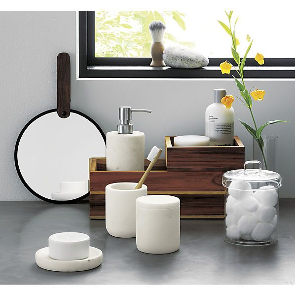 marble bath accessories at CB2