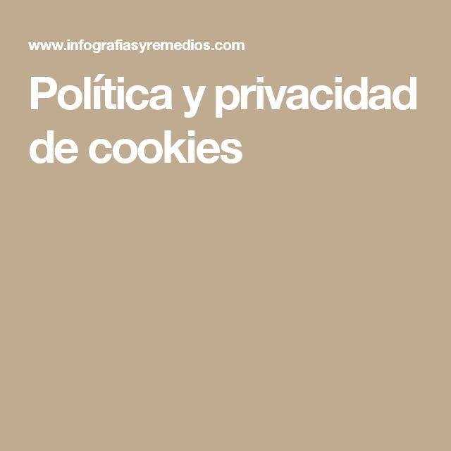 Política y privacidad de cookies