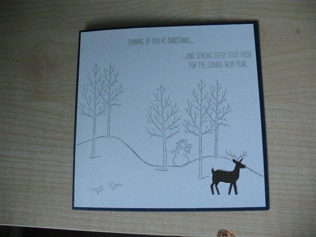 Kerst kaart gemaakt  met de White Christmas stempel set.