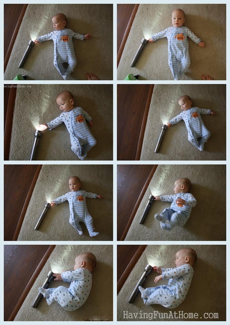 Having Fun at Home: Baby Playtime: Flashlights!