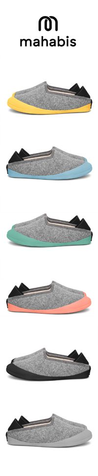 mahabis slipper // reinvented slippers with detachable soles in six different colours. have you got yours yet?
