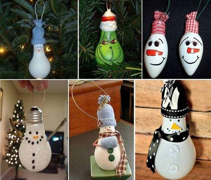 DIY-From Light Bulb to Super Creative Snowman Ornament - http://www.amazinginteriordesign.com/diy-light-bulb-super-creative-snowman-ornament/