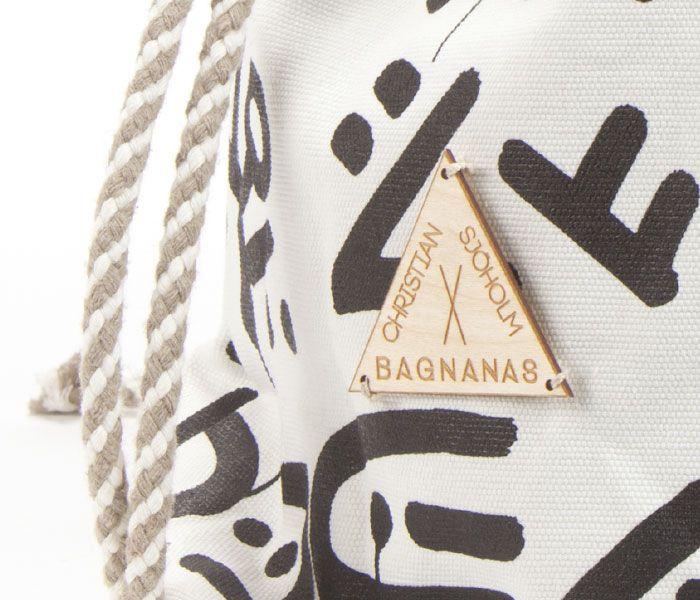 BAGNANAS X Christian Sjöholm (BXCS) Backsacks   Wooden Label by Laser Studio