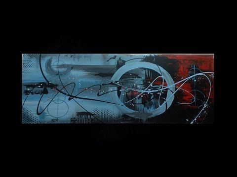 Abstract acrylic painting  - Abstract art - Fusion Circle by Roxer Vidal - YouTube