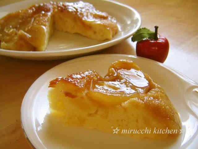 フライパンで♪ キャラメルアップルケーキの画像