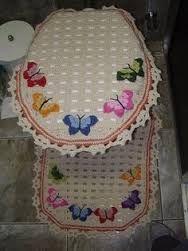 Resultado de imagen para juegos de baño tejidos con patrones