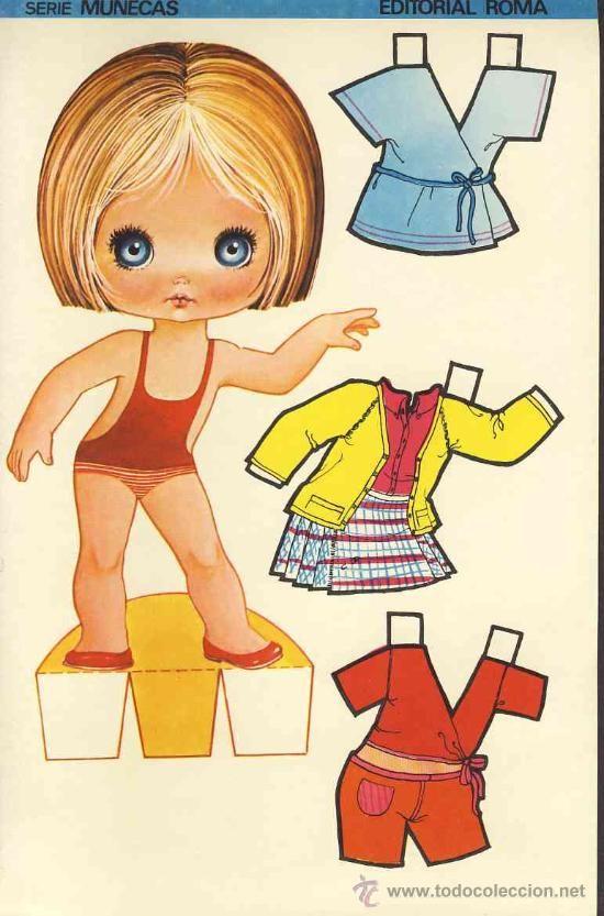 Coleccion completa 10 recortables muñecas EXTRA RECORTE Ed.Roma. Doble hoja…
