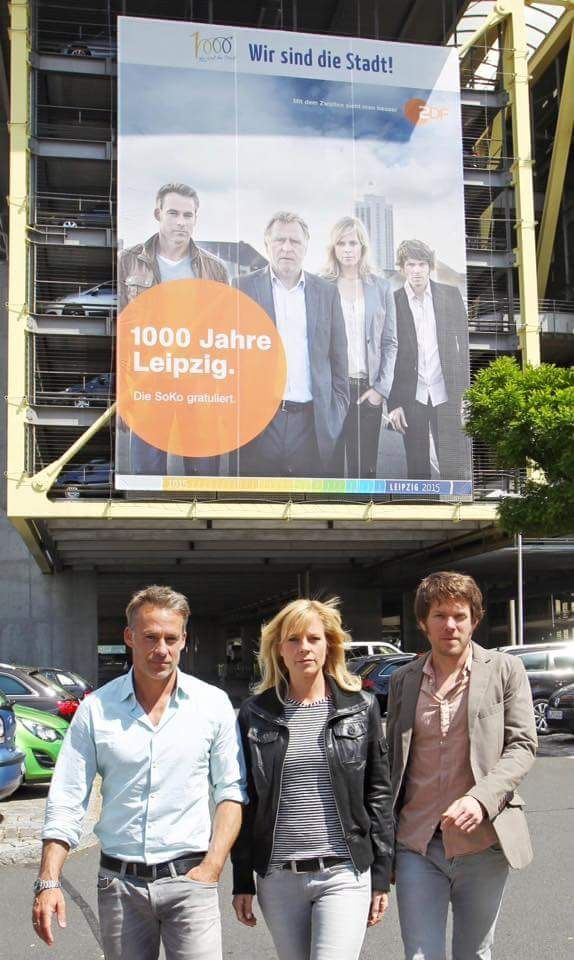 SOKO Leipzig - Marco Girnth (Kriminaloberkommissar Jan Maybach), Melanie Marschke (Kriminaloberkommissarin Ina Zimmermann) & Steffen Schroeder (Kriminaloberkommissar Tom Kowalski)