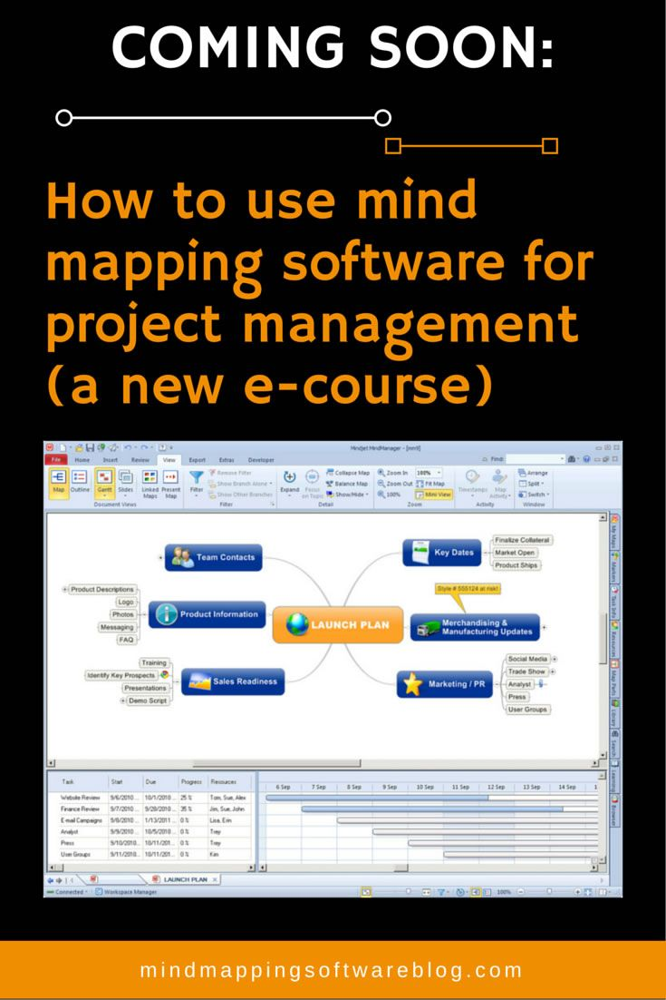 Project management is one of the most practical and powerful applications of mind mapping software, but it's also one of the least understood. That's why I'm now in the process of producing an e-course that will teach you all you need to be effective. Learn more about this new resource here. #mindmap #projectmanagement #projectmgmt
