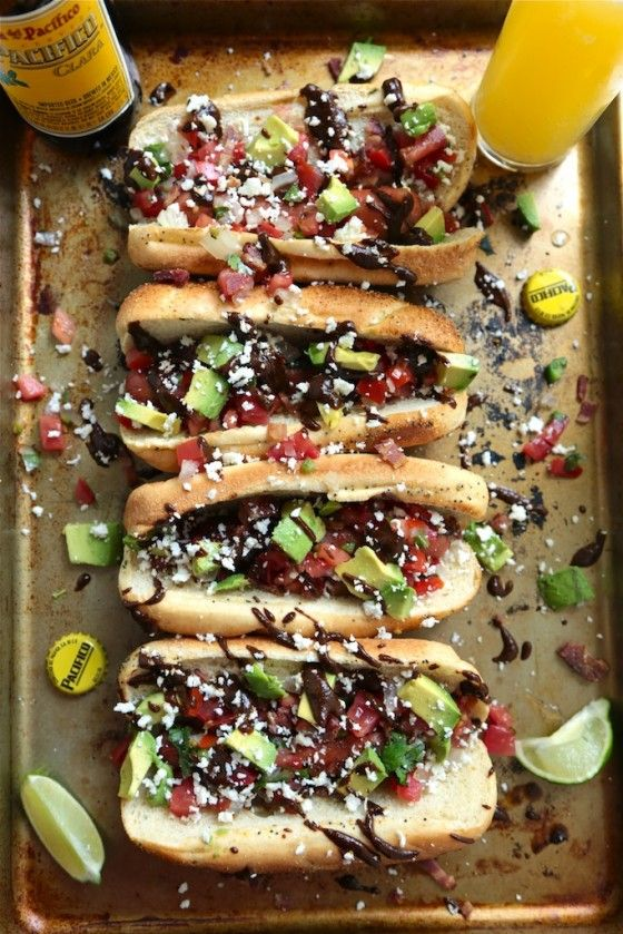 Mexican Mole Hot Dog - www.countrycleaver.com