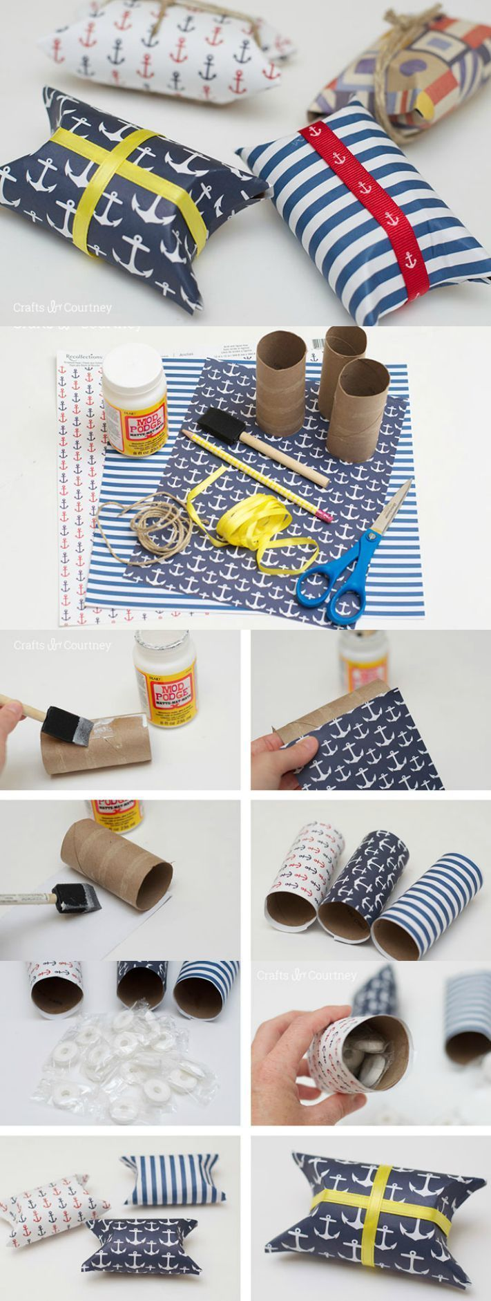 These simple and cute DIY party favors are so easy to make and can be customized to go with any theme as long as you can find the scrapbook paper!