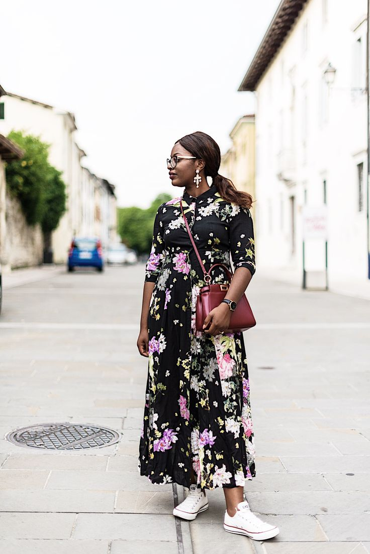 Maxi floral dress | floral dress from zara | fendi peekaboo outfit