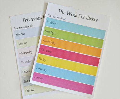 Meal Plans Printable.