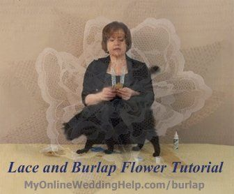 Making Burlap and Lace Flowers