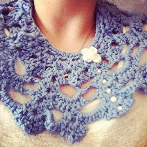 Blue Lace Collar/Necklace