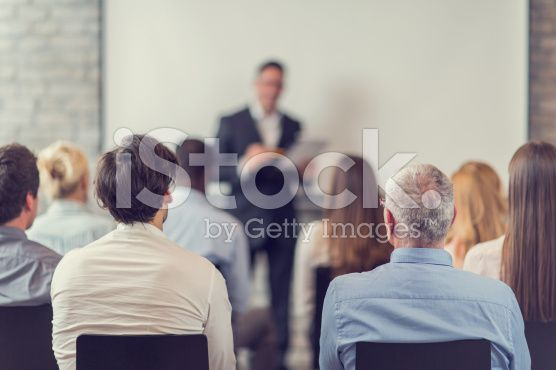 Business people attending a seminar. royalty-free stock photo