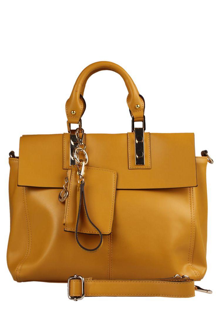 Mila leather yellow handbag