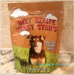 Trader Joe's Beef Recipe Jerky Strips For Puppies and Dogs $1.99 My picky Shiba Inu loves this. トレーダージョーズ 犬のおやつ ビーフジャーキー