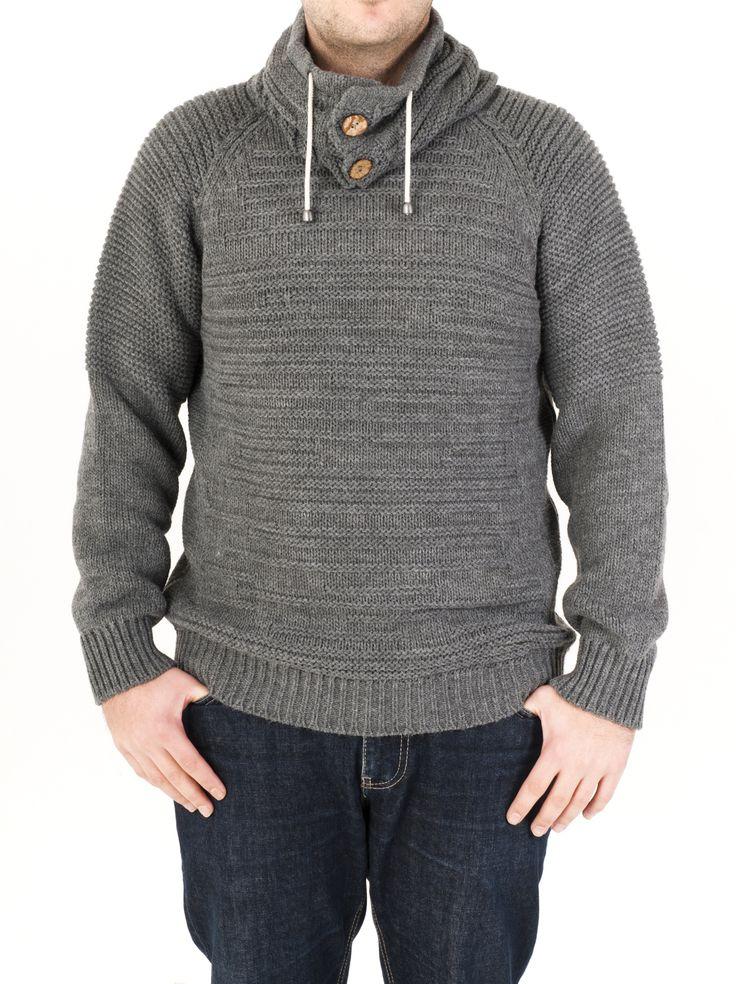 Jersey de hombre de cuello alto con botones y cordones. Estilo casual ideal para el día a día. Disponible en 4 colores para combinarlo a tu gusto.