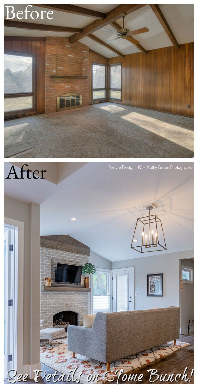Before And After Living Room Renovation Before And After Living Room Renovation Living Room Renovation Living Room Remodel Room Remodeling