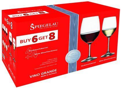 Spiegelau Vino Grande Bordeaux & White Wine Glass Pack