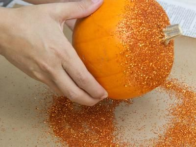 How to Make Glittered Pumpkins : Decorating : Home & Garden Television