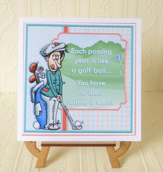 Golf Birthday Etsy Golf Birthday Cards Birthday Cards Birthday Cards For Son