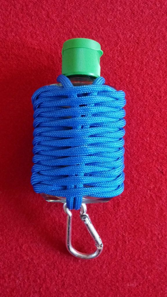 paracord germ grenade for hand sanitizer