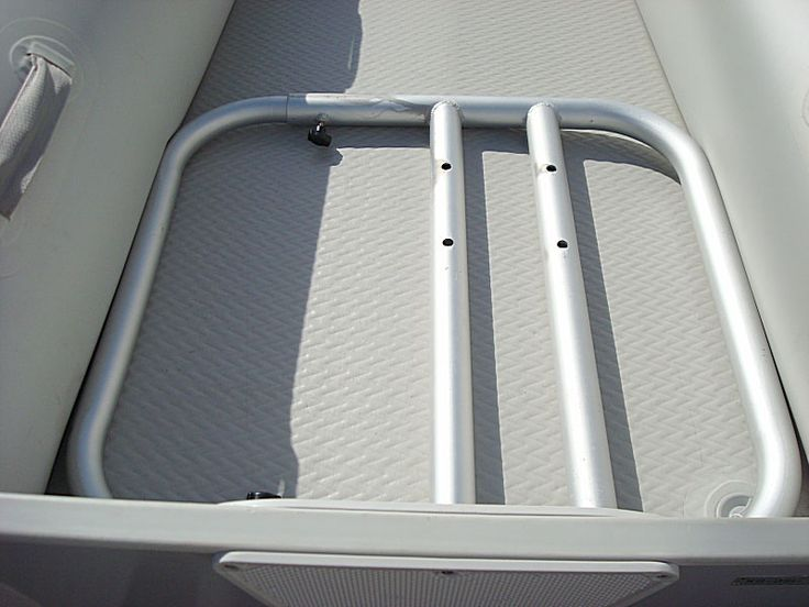 Aluminum seating platform frame for inflatable boats dinghy.