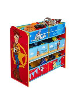 Toy Story Kids Bedroom Storage Unit With 6 Bins By Hellohome In 2020 Kids Bedroom Storage Toy Story Bedroom Bedroom Storage