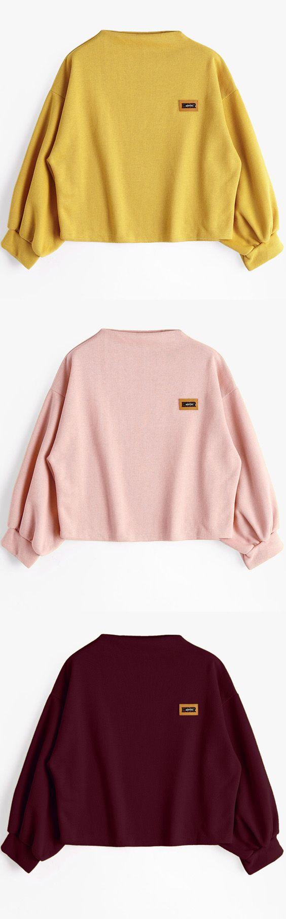 Up to 68% OFF! Badge Patched Lantern Sleeve Sweatshirt. Zaful,zaful.com,zaful fashion,tops,womens tops,outerwear,sweatshirts,hoodies,hoodies outfit,hoodies for teens,sweatshirts outfit,long sleeve tops,sweatshirts for teens,winter outfits,fall outfits,tops,sweatshirts for women,women's hoodies,womens sweatshirts,cute sweatshirts,floral hoodie,crop hoodies,oversized sweatshirt, halloween costumes,halloween,halloween outfits,halloween tops,halloween costume ideas. @zaful Extra 10% OFF…