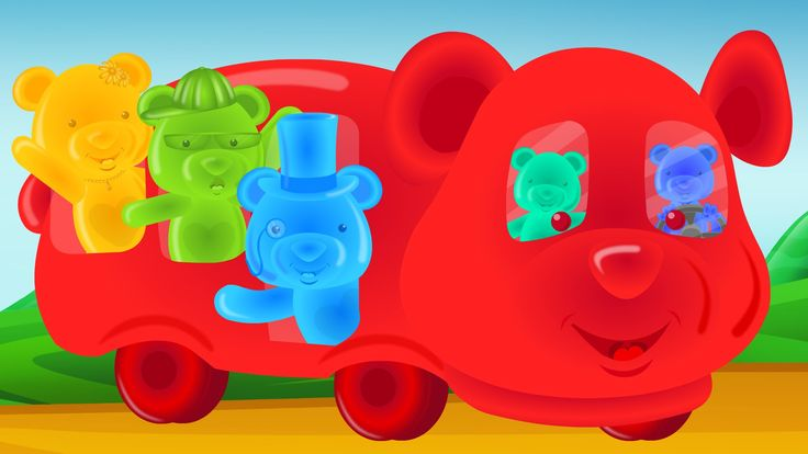 Jelly Bears   Wheels On The Bus Go Round And Round   Nursery Rhymes For Kids