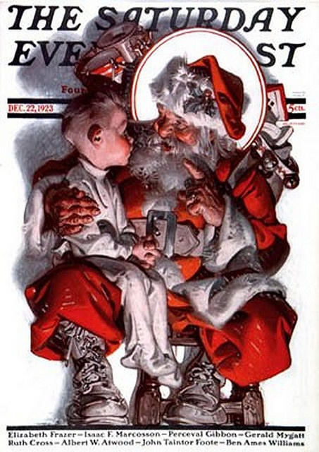 Saturday Evening Post, December 22, 1923, Cover by Norman Rockwell