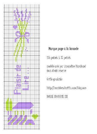 free marque page a la lavande