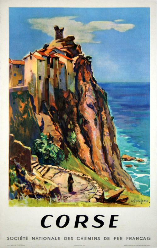 Corse - France - 1958 - illustration de Arthur Pages -