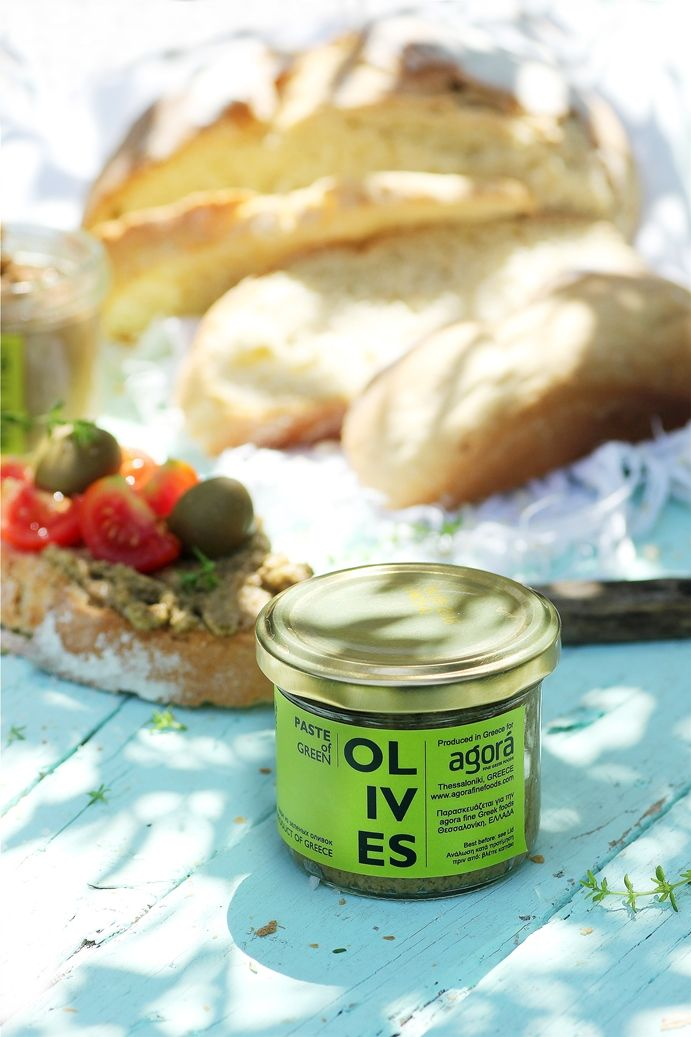 Paste from green olives from at least 8 month fermentation olives. Rich and balanced flavor. Ideal spread for toast, sandwiches, appetizers and cheeses. #aboutoliveoil