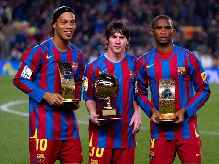 Ronaldinho, Messi y Eto'o conformaron un tridente inolvidable.